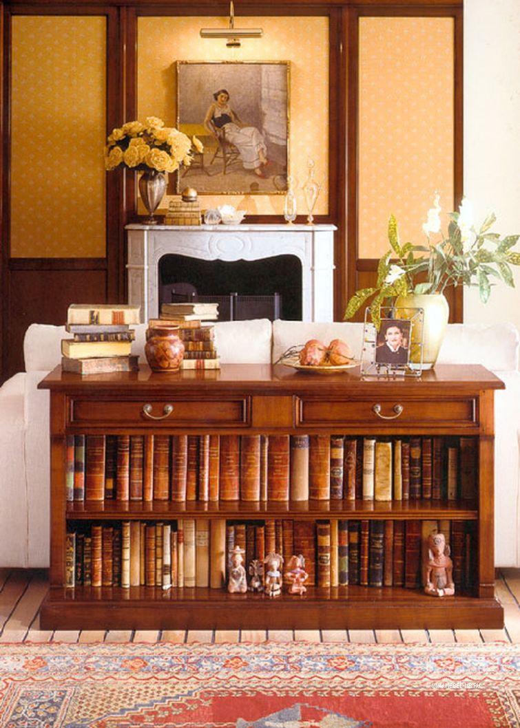 Придиванный шкаф pregno tc7 с полками для книг.