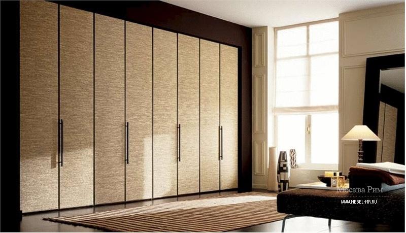 Шкаф с распашными дверцами обитыми тканью parigi, misuraemme.
