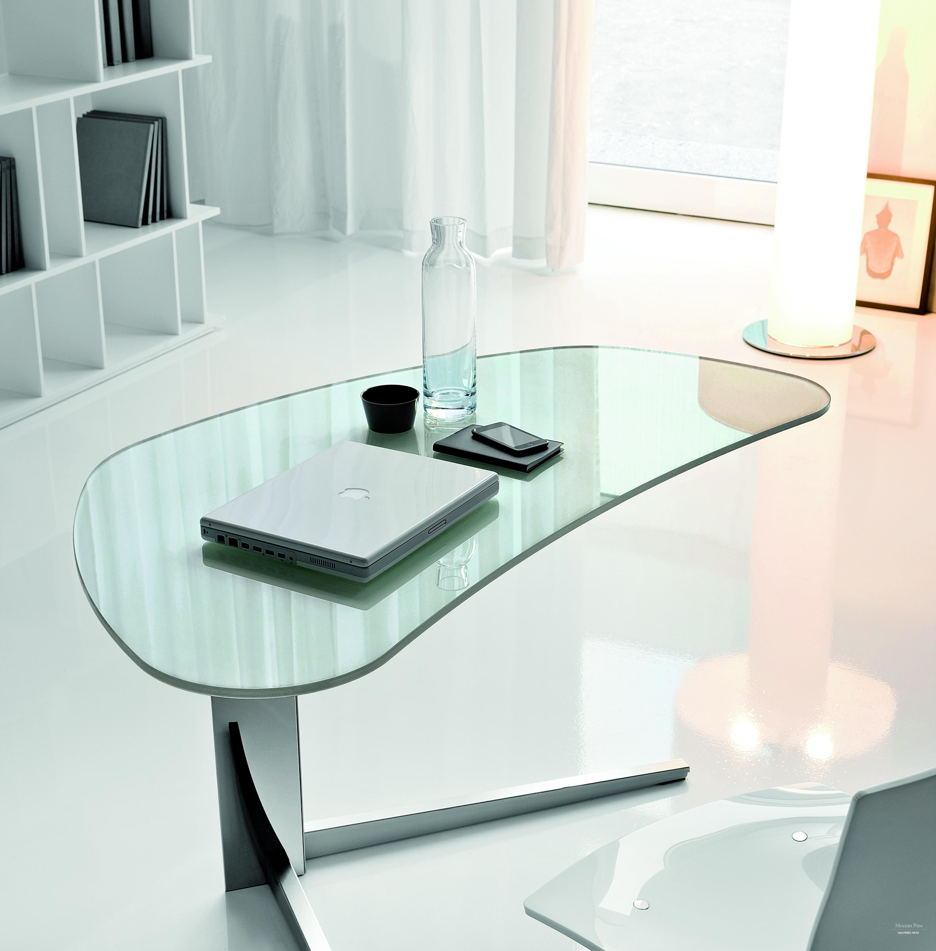 Стеклянный компьютерный стол - 80 фото современных моделей и.