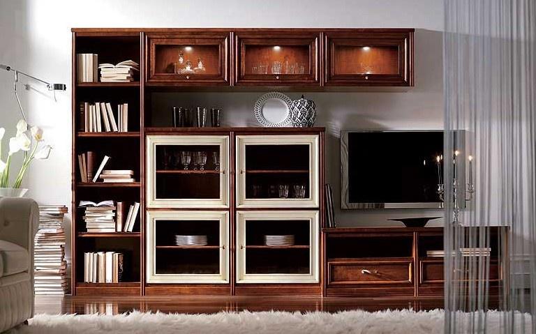 Стенка из 3 книжных шкафов классических 294х201х41см.