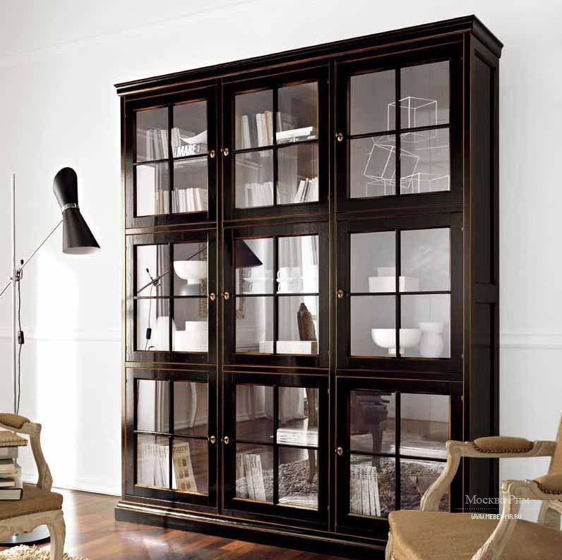 Шкаф со стеклянным фасадом, flai - мебель мр.