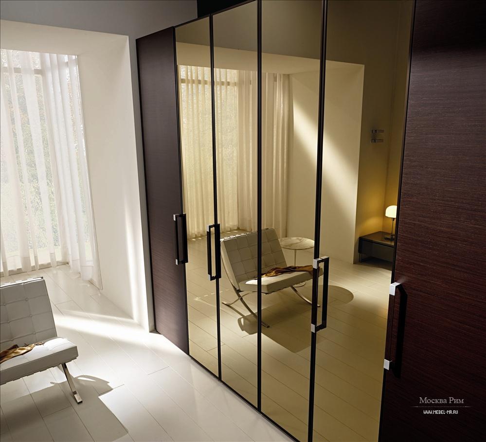 Платяные шкафы : шестидверный шкаф mercantini с зеркальными .