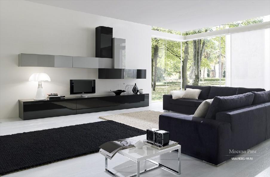 модульная система для гостиной из древесины ореха Md House мебель мр