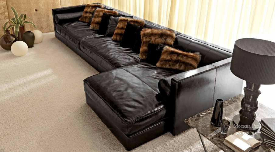 Диван секционный на каркасе из бука Joe Sectional, Ulivi