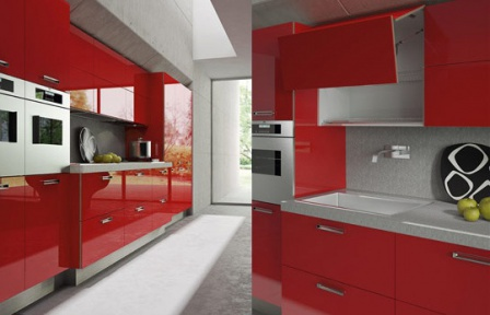 Кухня Light GLOSSY RED, Arrital Cucine