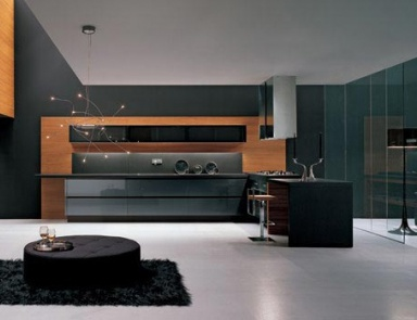 Кухня (гарнитур для кухни) Arrital Cucine, Methra METALLIZED GREY AND TEAK