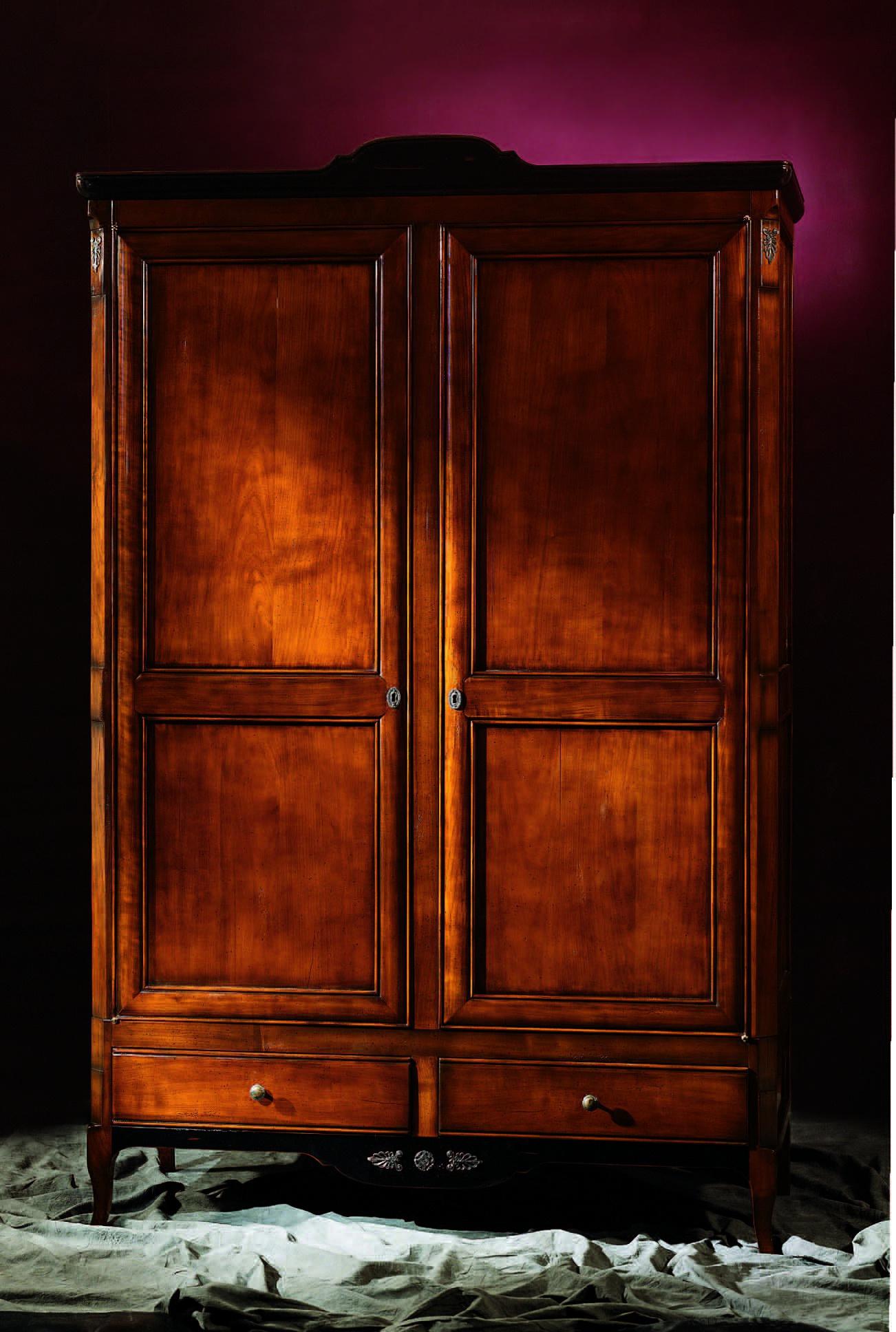 Шкаф двустворчатый из дерева stella del mobile - мебель мр.