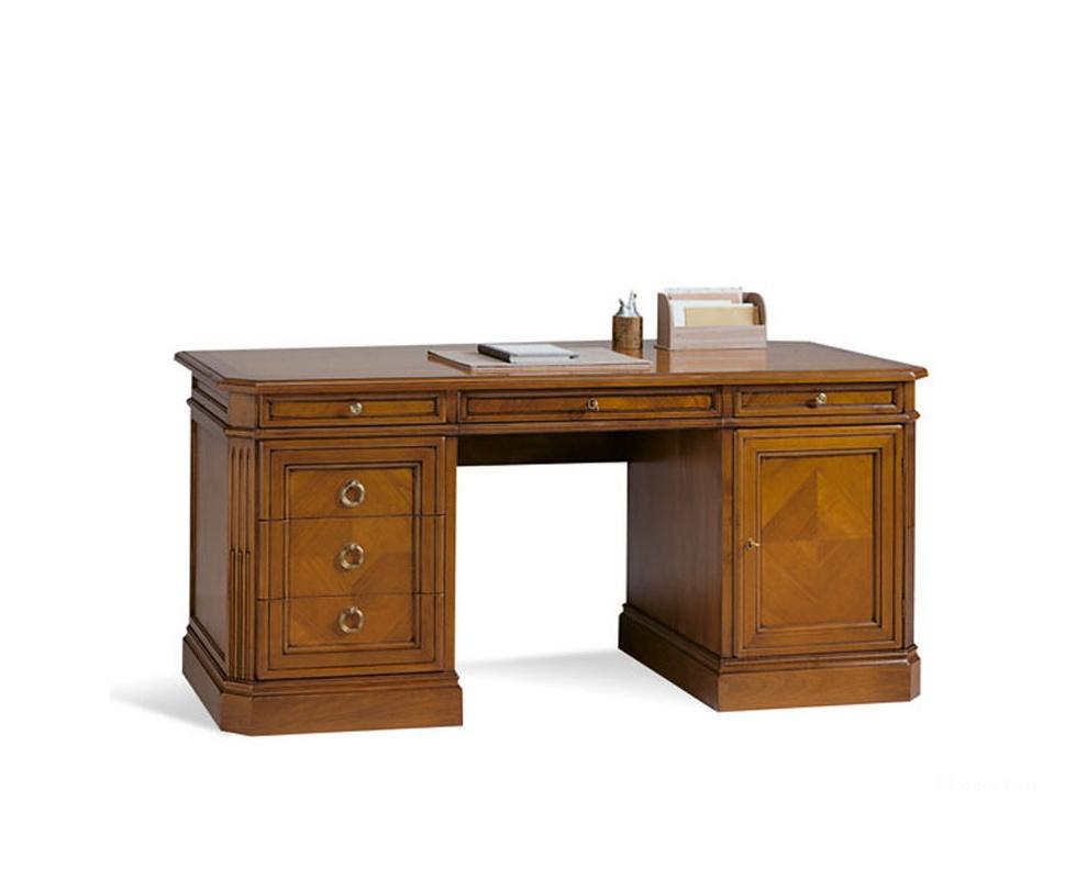 Письменный стол bernini из массива ольхи, selva - мебель мр.