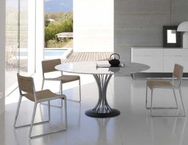 Обеденные столы со стеклянными столешницами ар нуво Мойдодыр из искусственного камня Staron Ашукино
