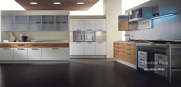 Кухня с каркасом из МДФ Trendy Laminato colours, Aster Cucine