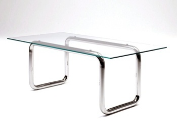 Обеденный стол Glass Table with Pipe Legs, Living