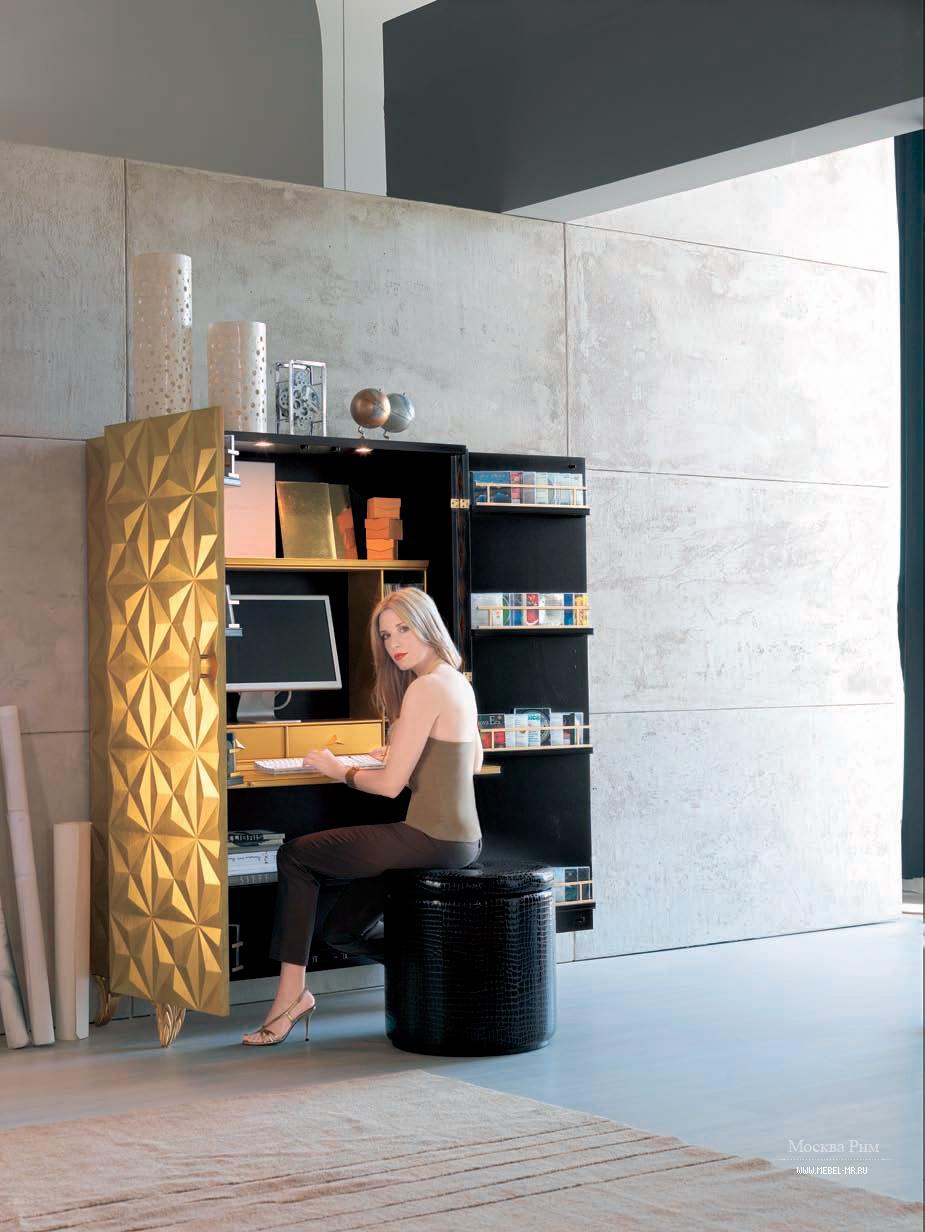 Шкаф для компьютера 564 diamond, bizzotto - мебель мр.