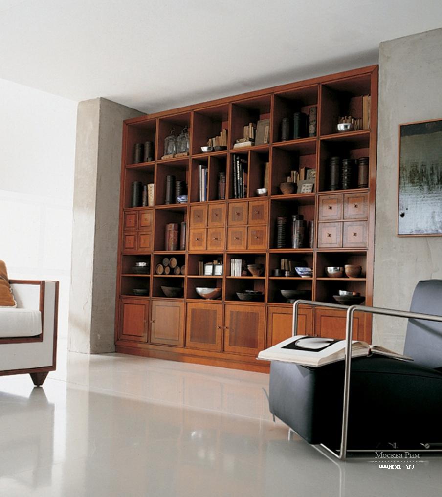 Книжный шкаф с корпусом из массива вишни, annibale colombo -.