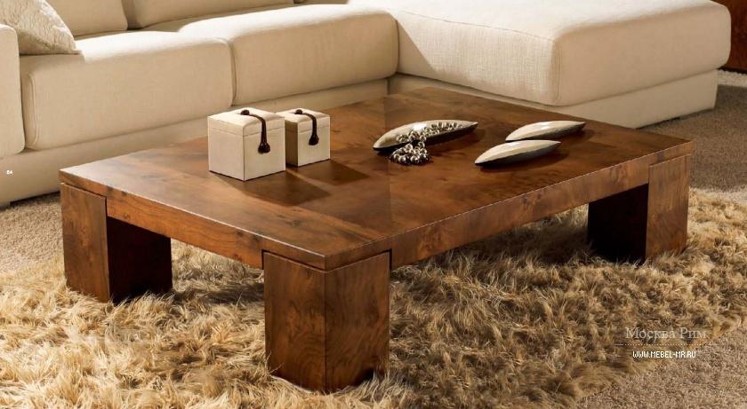 Журнальный столик из дерева своими руками фото
