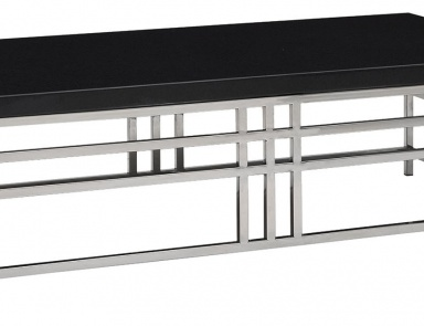 Кофейный столик, Black Geometric Coffee Table - Andrew Martin