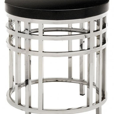 Стол Black Geometric Round Occasional Table