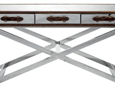 Стол на металлических ножках, Da Gama Campaign Console Table - Andrew Martin