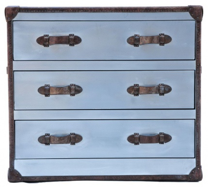 Комод Howard Chest Of Drawers Steel Vintage Leather