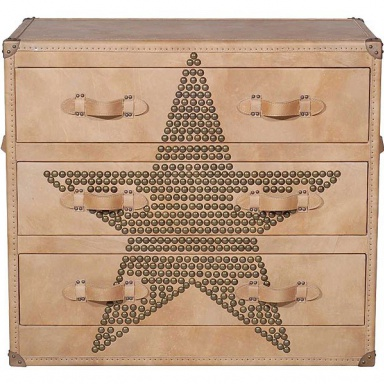 Комод Howard Star Studded Parchment Chest of Drawers