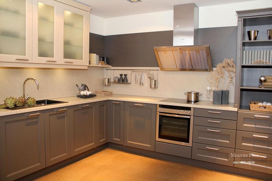 Сочетание цвета столешницы и фасада кухни