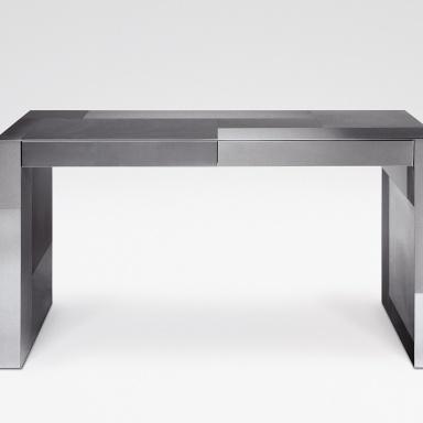 Стол письменный adelchi серебристого цвета, armani casa - ме.