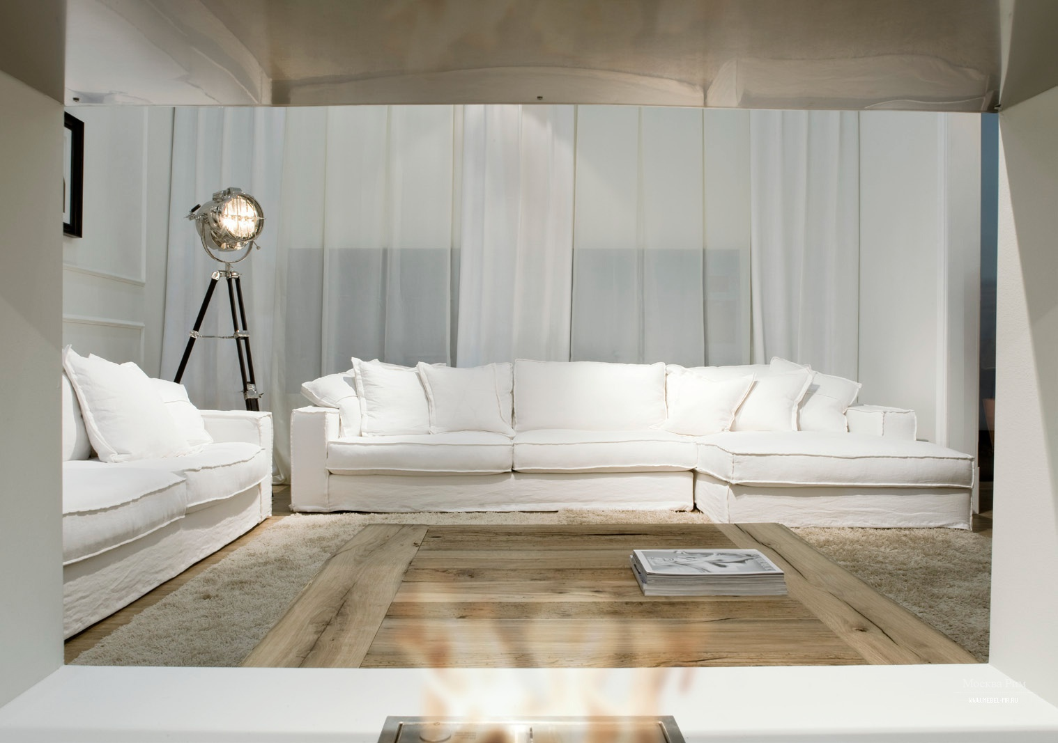 Диван двухместный со съемными подушками Vittoriano Easy, Ville ...