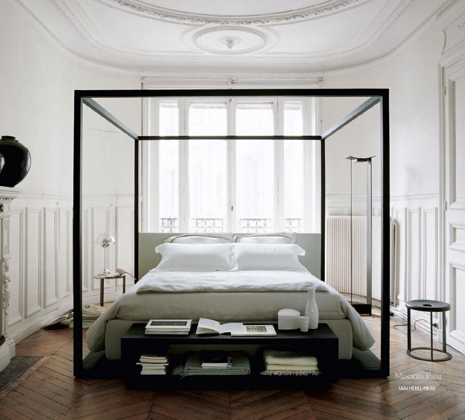 Кровать Alcova с балдахином и высоким изголовьем, B&B Italia - Мебель МР