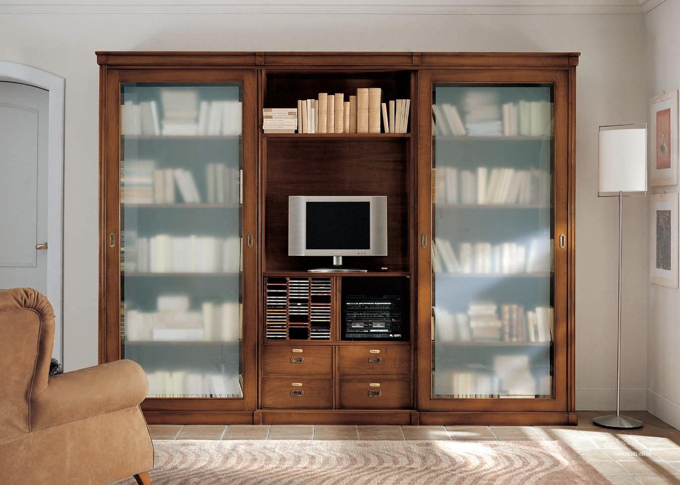 Стенка для хранения книг и тв taormina, bizzotto - мебель мр.