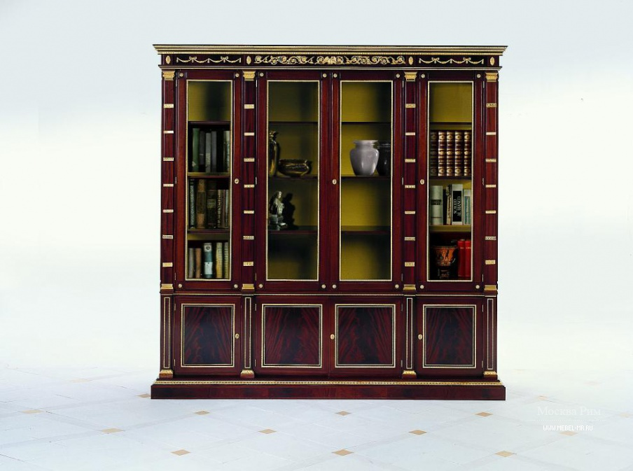 Книжный шкаф из натурального дерева s.i.p. arr 09, colombo s.