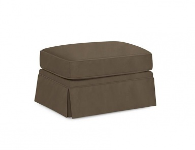 Пуф Bellevue Skirted Ottoman, Caracole Light (мебель прованс)