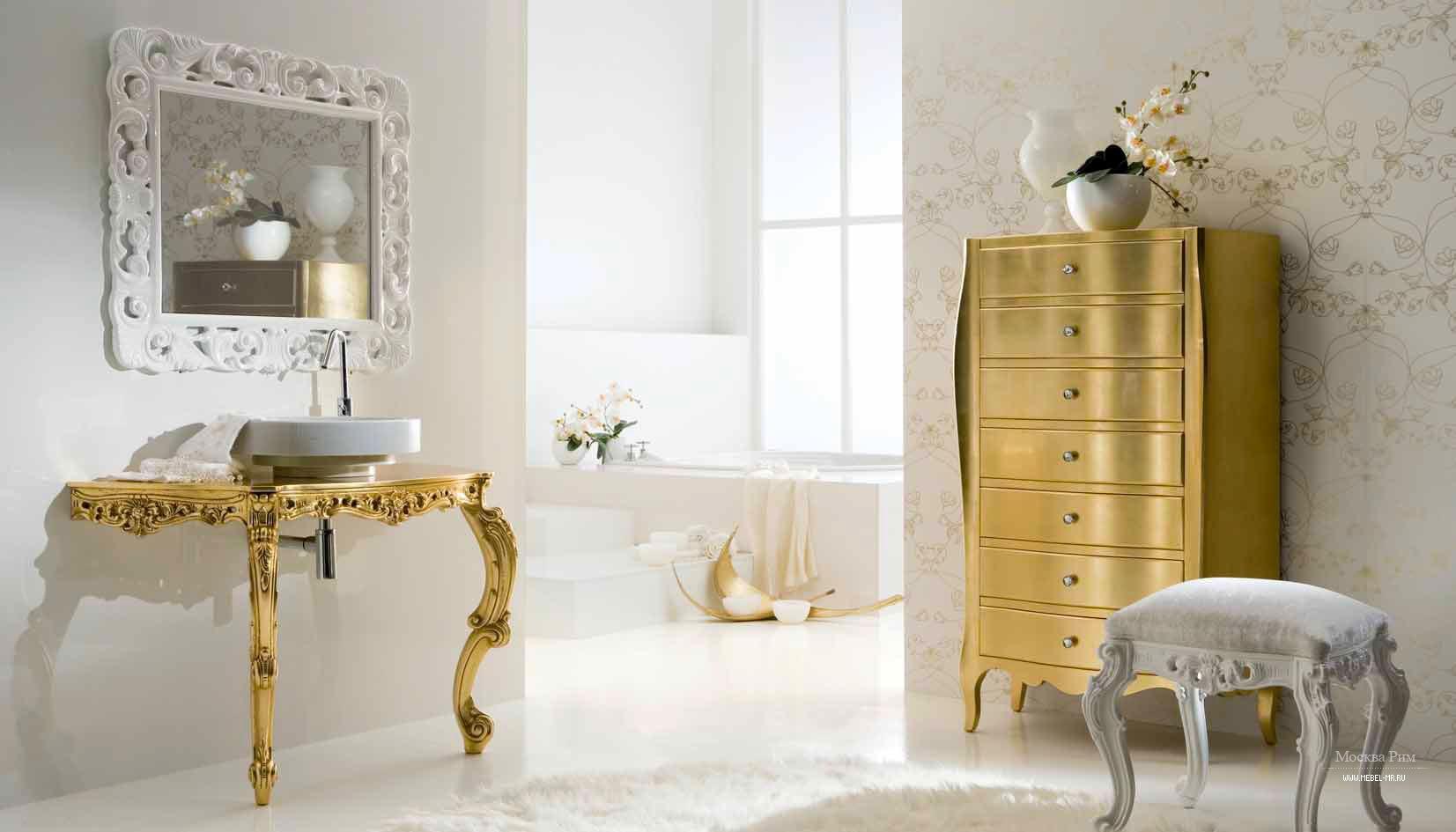 Стиль барокко в интерьере квартиры, гостиной и спальни совре.