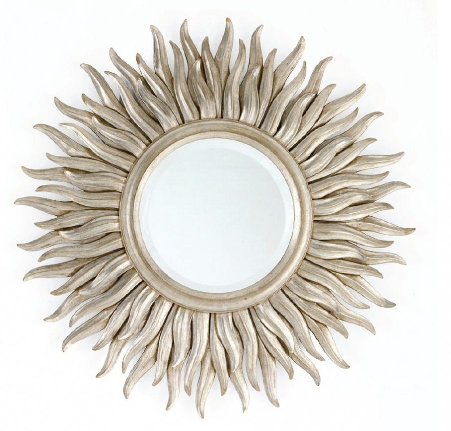 настенное зеркало с деревянной рамой Chelini
