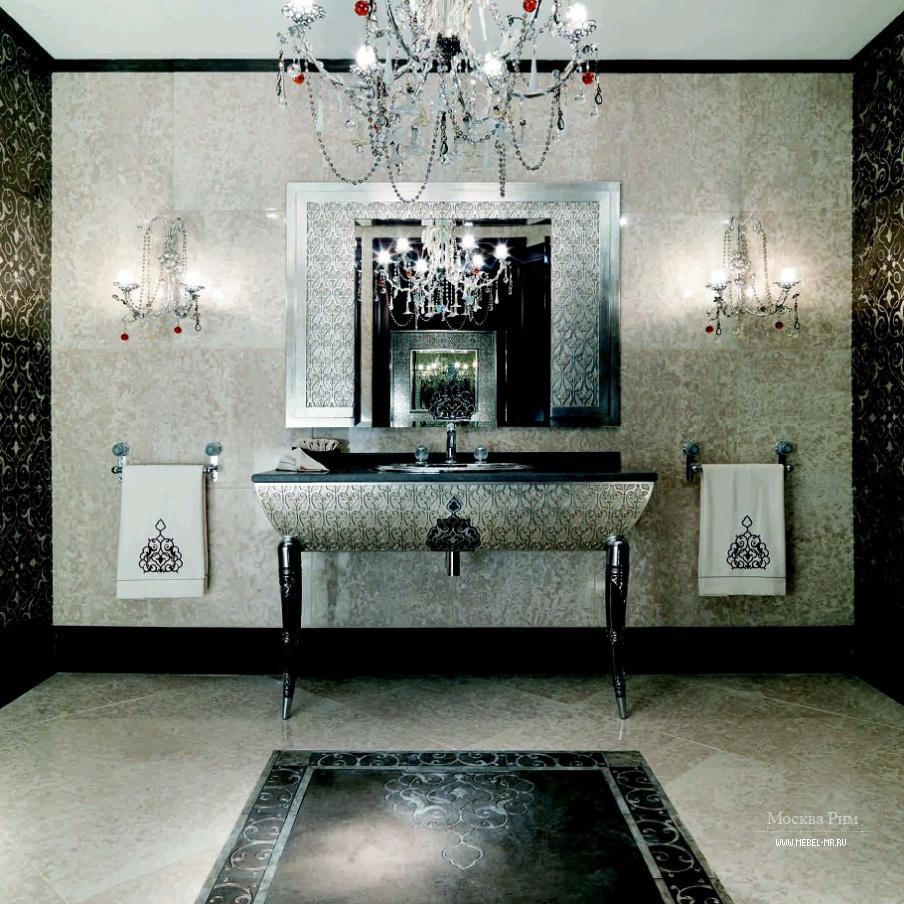 ванная гарнитур для ванной комнаты из дерева и стали с резьбой
