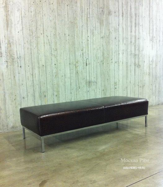 Скамья мягкая кожаная ascot, giulio marelli - мебель мр.