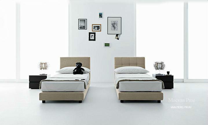кровать односпальная из древесины на невысоких ножках My Saggita