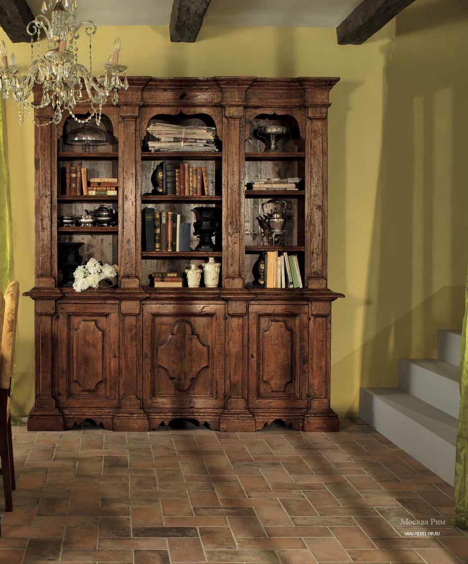 Книжный шкаф с деревянным корпусом elena, tiferno mobili - м.