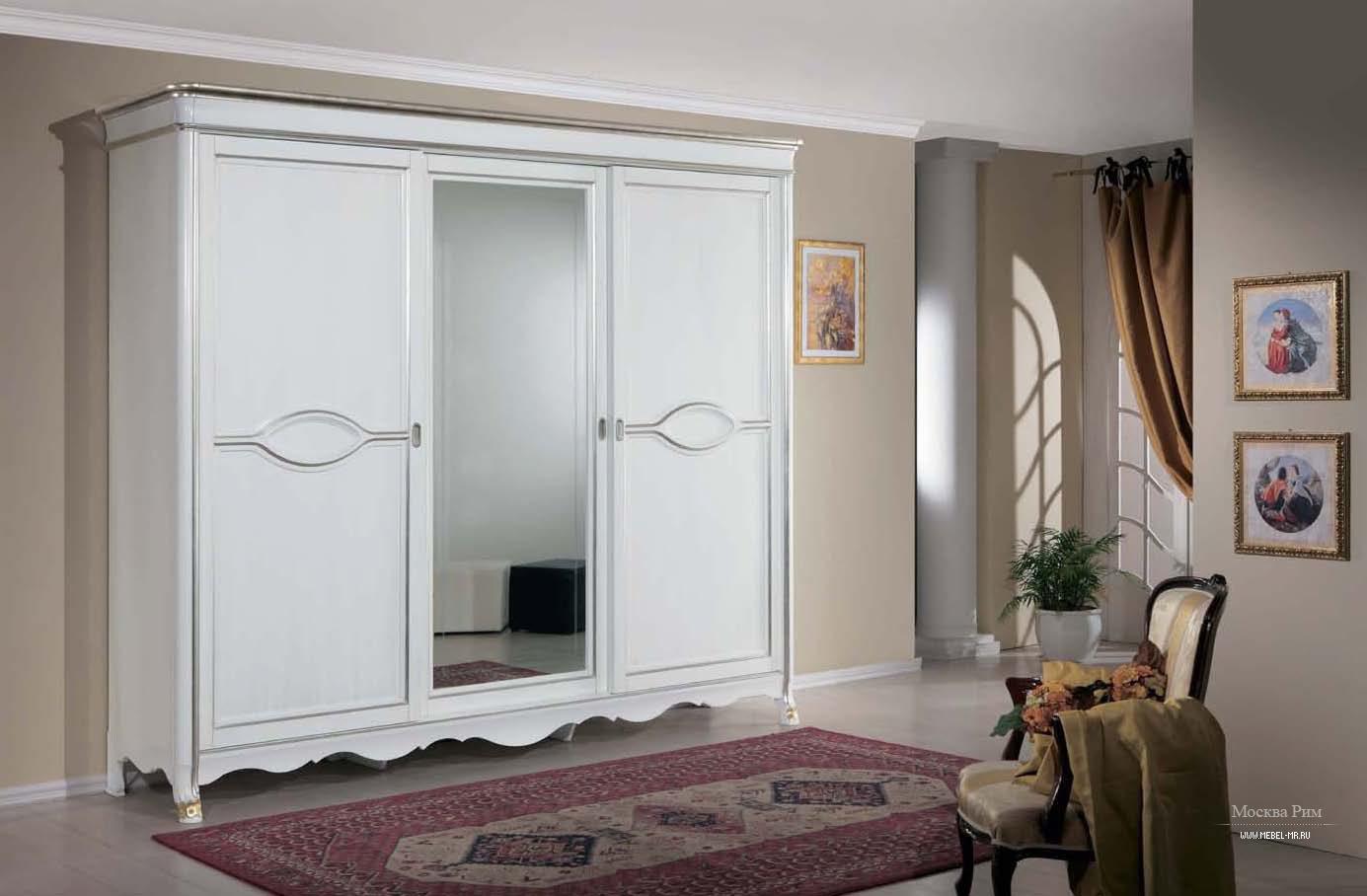 5131659 шкаф-купе 3-х дверный с зеркалом arena tarocco vacca.