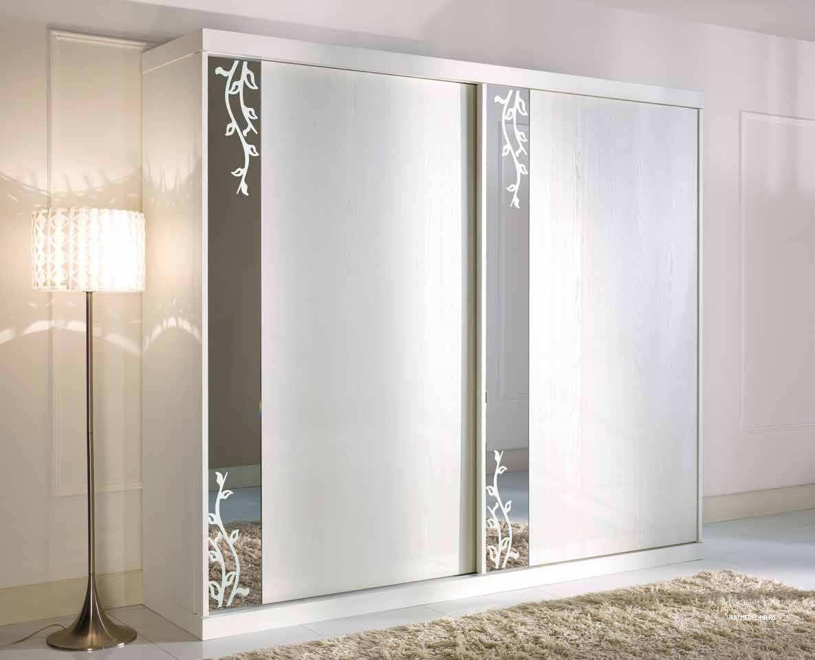 Шкаф в белом лаке с 2-я раздвижными дверцами prima classe, a.
