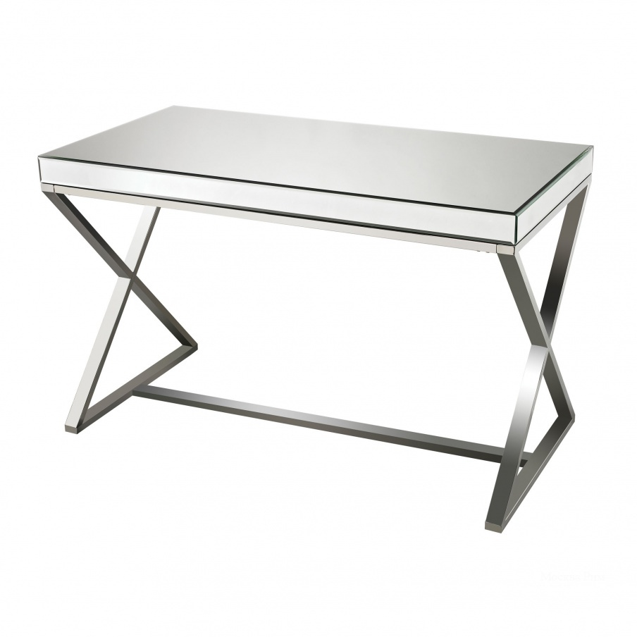 Стол письменный Klein-Mirror And Stainless Steel Desk Sterling
