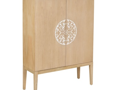 Шкаф Cabinet 2 Doors With Resin Accent Dimond Home