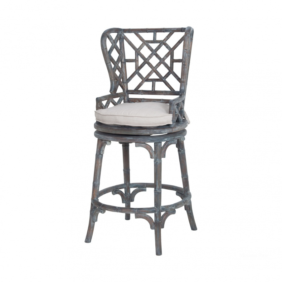 Стул Bamboo Wingback Barstool Guild Master