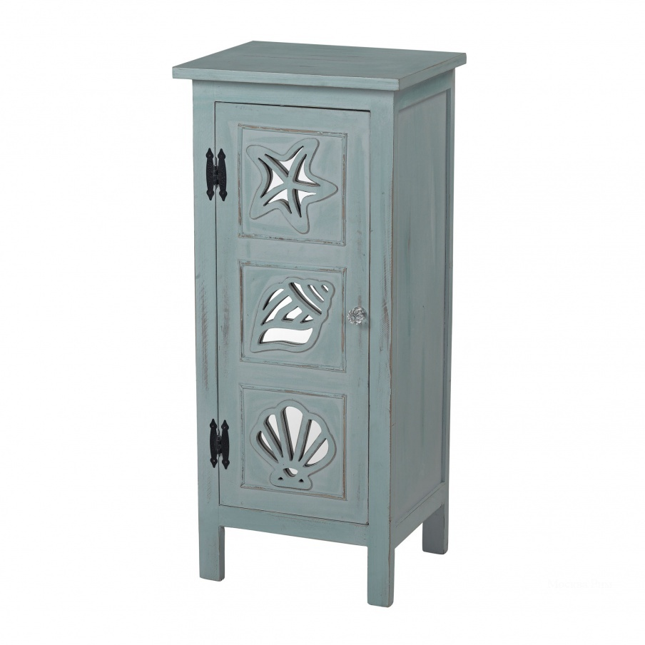 Шкаф Normandy Shore Mirrored Seashell Cabinet By Sterling