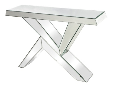 Консоль Juxtaposed Angles Mirrored Console Dimond Home