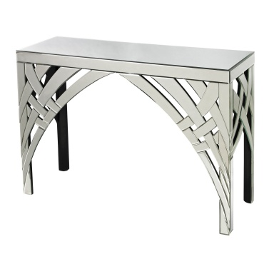 Стол Curved Ribbons Mirrored Console