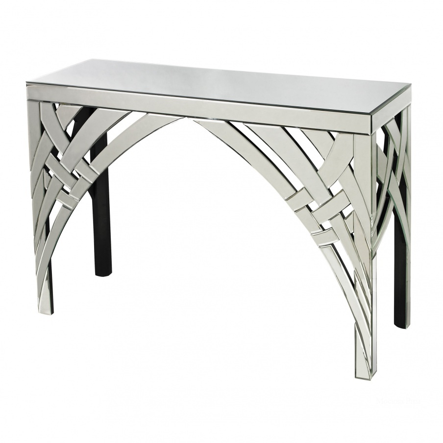 Стол Curved Ribbons Mirrored Console Dimond Home