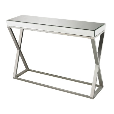 Консоль Klein-Mirror And Stainless Console Table