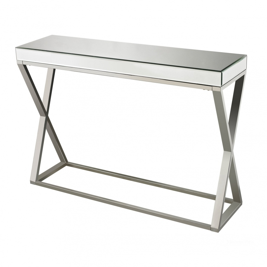 Консоль Klein-Mirror And Stainless Console Table Dimond Home
