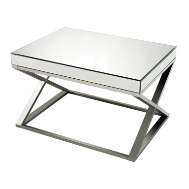 Стол Klein-Mirror And Stainless Steel Coffee Table