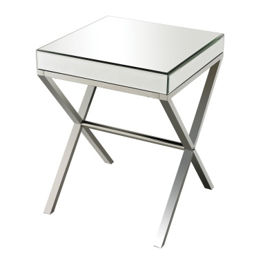 Стол Klein-Mirror And Stainless Steel Side Table