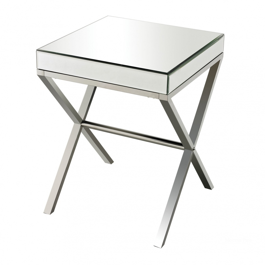 Стол Klein-Mirror And Stainless Steel Side Table Dimond Home